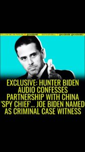 Also reveals Joe & Hunter Biden are names as witnesses in Devon Archer's crimina