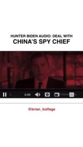 Hunter Biden audio confesses partnership with China 'Spy Chief'