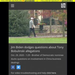 Read more about the article outside Jim Biden's house, asking questions about his dealings with China! He s