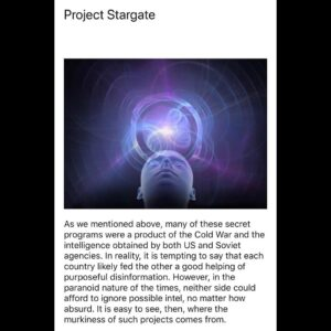 Read more about the article I found this article on reddit containing the top ten alleged ultra top secret s