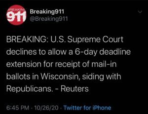 ==================  was suspended at 56k for thirty days on October 6, 2020.  H