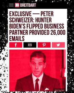 EXCLUSIVE – PETER SCHWEIZER: HUNTER BIDEN'S FLIPPED BUSINESS PARTNER PROVIDED 26,000 EMAILS