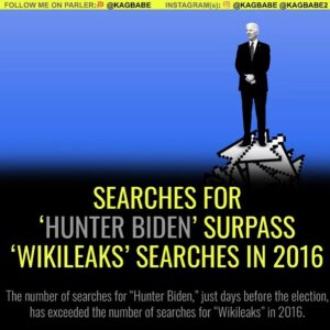"SEARCHES FOR ""HUNTER BIDEN' SURPASS WIKILEAKS' SEARCHES IN 2016"