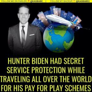 Hunter Biden was a U.S. Secret Service protectee from Jan. 29, 2009 to July 8, 2014