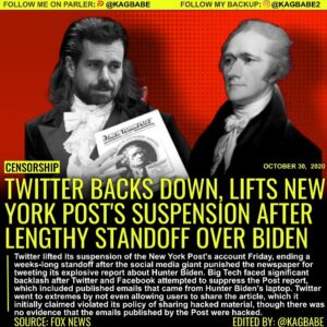 Twitter lifted its suspension of the New York Post's main account Friday, ending