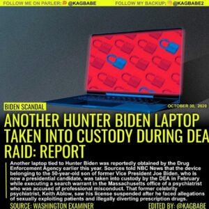 ANOTHER HUNTER BIDEN LAPTOP TAKEN INTO CUSTODY DURING DEA RAID: REPORT