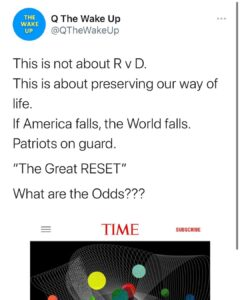 "TIME Magazine wrote about ""The Great Reset."" There are no coincidences.  While t"