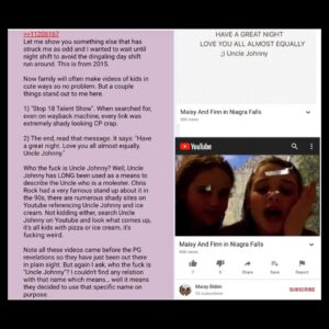 Read more about the article Who is 'Uncle Johnny'? Anon… P.S. These are Hunter's kids