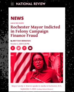 Rochester Mayor Indicted in Felony Campaign Finnance Fraud