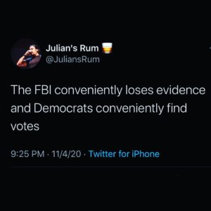 The FBI conveniently loses evidence and Democrats conveniently find votes