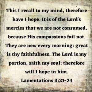 Read more about the article This is my all-time favorite verse. God is so good!  Do not lose hope. May these