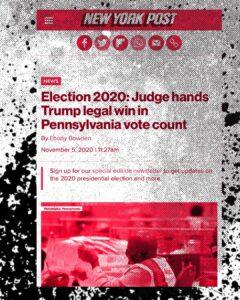 Election 2020: Judge Hands Trump Legal Victory In Pennsylvania Vote Count