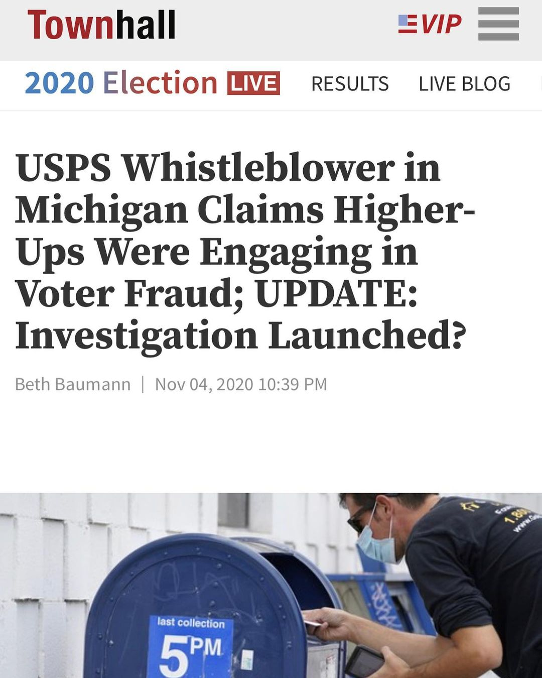 USPS Whistleblower in Michigan Claims Higher-Ups Were Engaging in Voter Fraud; UPDATE: Investigation Launched?