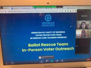 Georgia Democrats Going Door-to-Door to Fix Flawed Ballots, Told to 'Minimize' Helping Republicans
