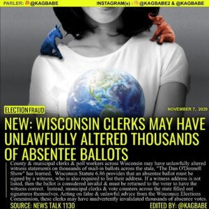 County and municipal clerks and poll workers across Wisconsin may have unlawfull