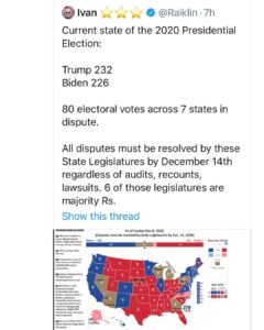 80 electoral votes across 7 states in dispute.