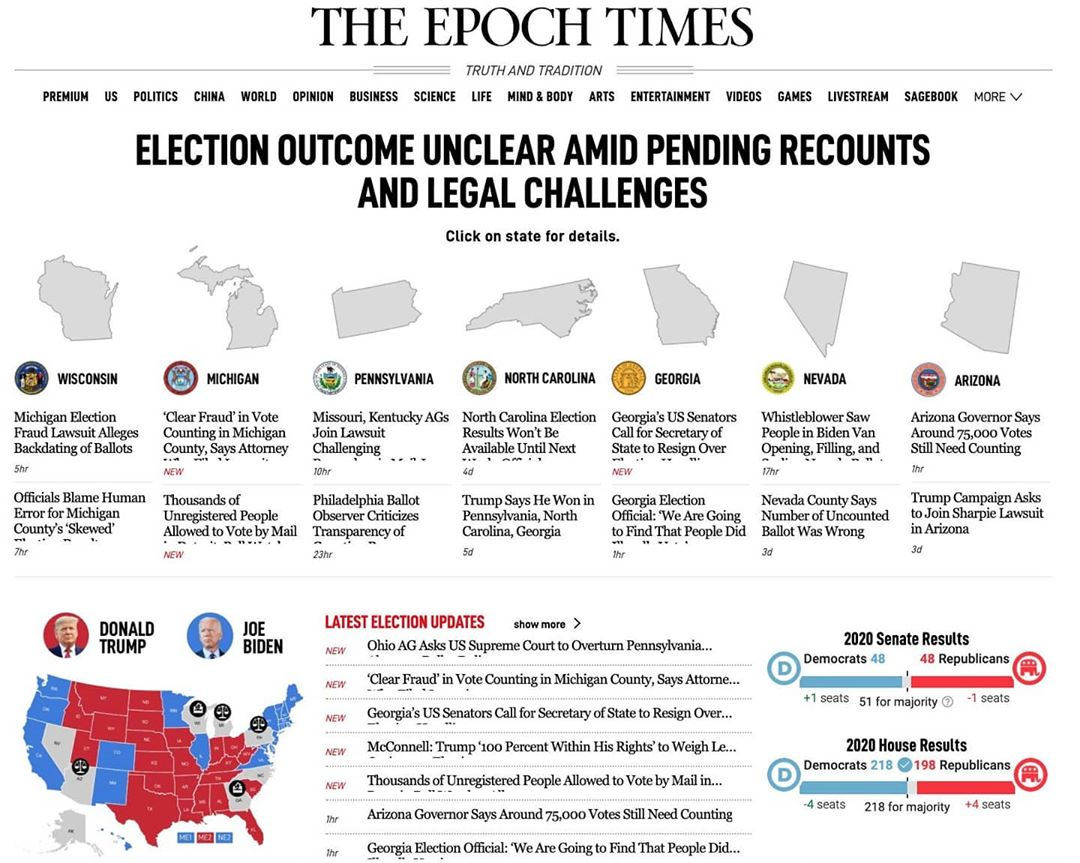 ELECTION OUTCOME UNCLEAR AMID PENDING RECOUNTS AND LEGAL CHALLENGES