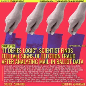 "IT DÉFIES LOGIC"": SCIENTIST FINDS TELLTALE SIGNS OF ELECTION FRAUD AFTER ANALYZING MAIL-IN BALLOT DATA"