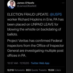 USPS whistleblower update