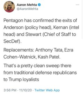 Read more about the article Watch resignations.