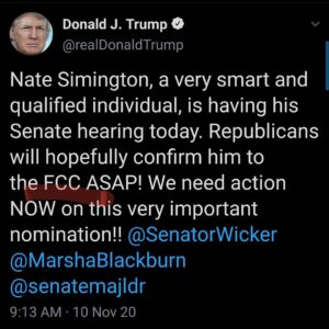 Missed this yesterdayNate Simington, a very smart and qualified individual, i