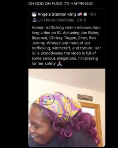 Human trafficking victim releases hour long video on IG. Accusing Joe Biden, Bey