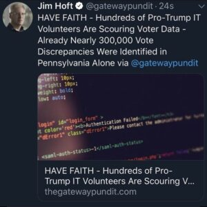 Hundreds of Pro-Trump IT Volunteers Are Scouring Voter Data – Already Nearly 300,000 Vote Discrepancies Were Identified in Pennsylvania Alone