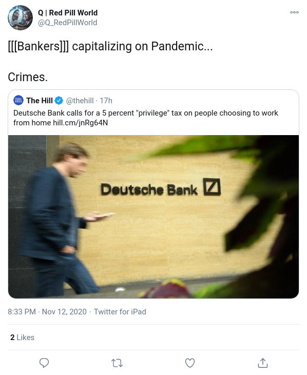 [[[Bankers]]] capitalizing on Pandemic...