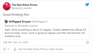 Yeah I think something is about to happen. Twatter deleted the official ICE account today. Sooo…