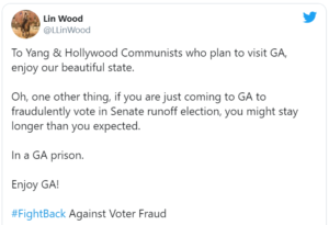To Yang & Hollywood Communists who plan to visit GA, enjoy our beautiful state.