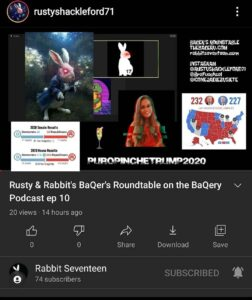 Check out RUSTY & RABBIT'S BAQERS RQUNDTABLE FT On youtubeAnd live tonig