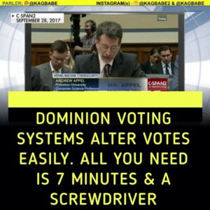 """To flip votes on a dominion voting machine you just need 7 minutes alone with i"