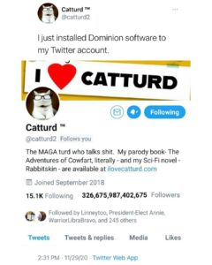 Read more about the article Good golly I love Catturd on Twitter.