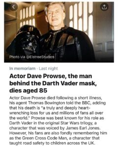 Read more about the article The actor behind one of the world's greatest super villains has died.