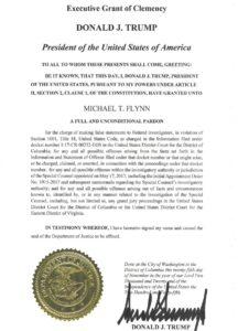 Federal prosecutors file President Donald Trump's pardon order for Lt. General (