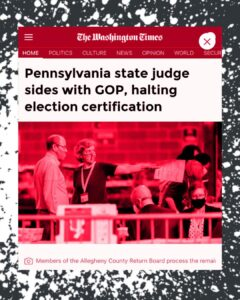 Read more about the article A state court in Pennsylvania sided with Republicans Wednesday in their attempts