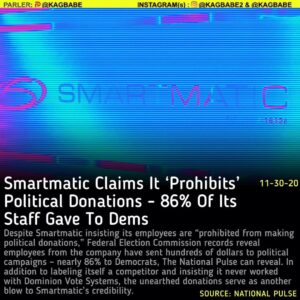 """Read more about the article Despite Smartmatic insisting its employees are """"prohibited from making political"""