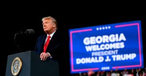 Read more about the article 'You have to vote': Trump rallies in Georgia for GOP Senate candidates in close,