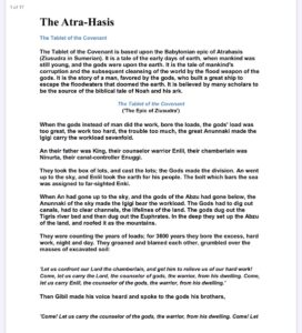 """Atrahasis""""The Holy Ghost"""" & the creation of Man (& woman)""""Our image & our Li"""