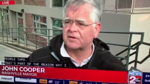 Why in the world would democrat Mayor John Cooper laugh after an explosion went