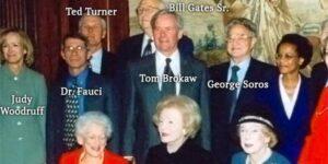 Flashback: Dr. Fauci hanging with Soros, Rockefeller, Gates Sr. and his elite fr