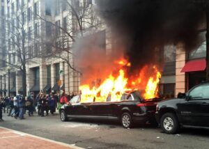 When President Trump was inaugurated, over 100 radical leftists were arrested fo