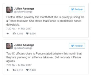 Seems clear that at least back in 2017, Julian Assange had some concerns about Mike Pence.