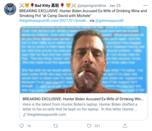 """BREAKING EXCLUSIVE: Hunter Biden Accused Ex-Wife of Drinking Wine and Smoking Pot """"at Camp David with Michele"""""""