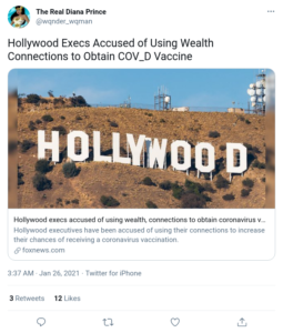 Hollywood Execs Accused of Using Wealth Connections to Obtain COVID Vaccine
