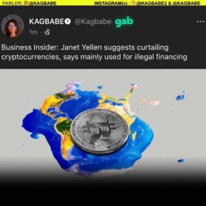 Attention to my cryptocurrency followers: Janet Yellen is coming after you. Beware of more regulation to come