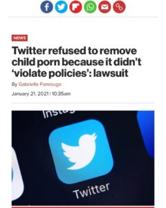 Twitter refused to remove child porn because it didn't 'violate policies': lawsuit