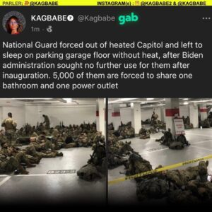 National Guard forced out and left to sleep on parking garage floor without heat