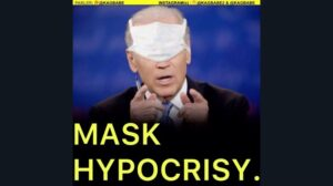 Joe Biden called out on his elitist mask hypocrisy – bravo