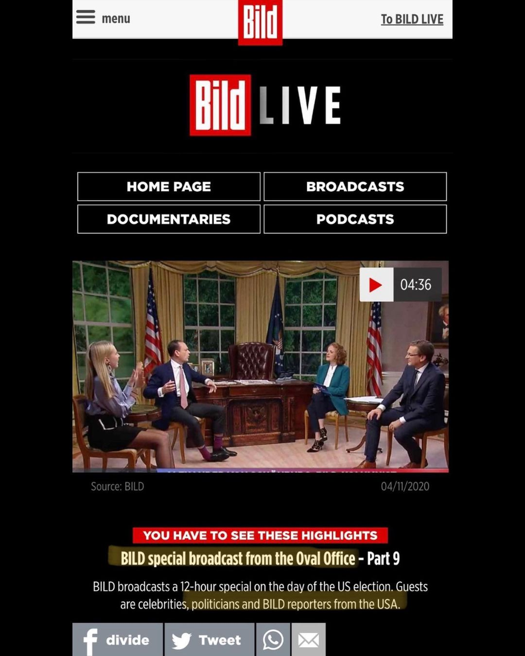 """You are currently viewing """"Live from the Oval Office"""""""